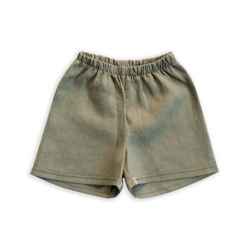 Linen Chino Shorties in Moss