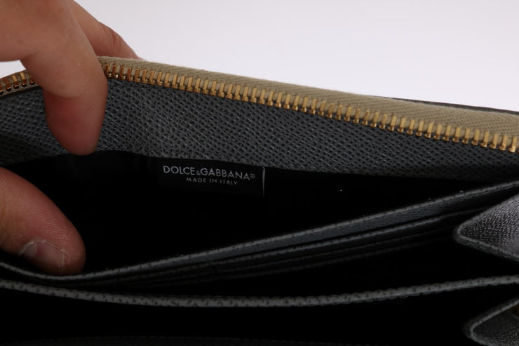 Multicolor Leather Crocodile Skin Continental Wallet