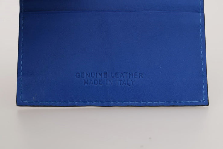 Blue Leather Cardholder Wallet