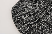 Black White Wool Winter Beanie