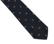 Blue Silk Pattern Slim Tie