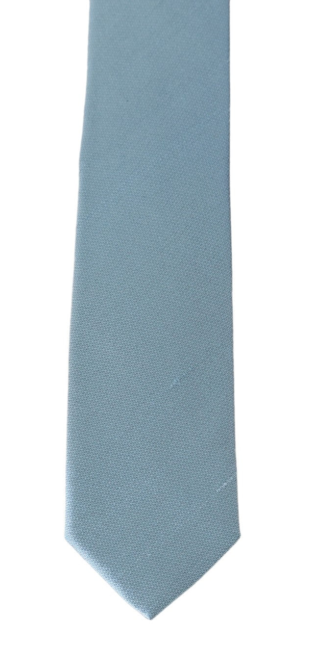Light Blue Silk Slim Tie