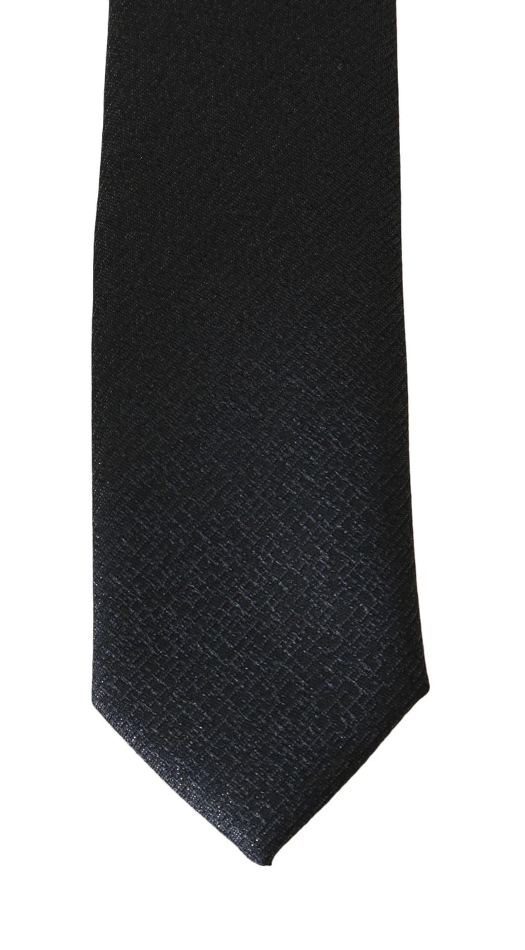 Gray Patterned Wool Classic Tie