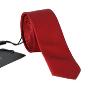 Red Silk Slim Tie