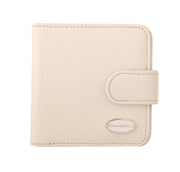 White Dauphine Leather Condom Pocket Case Holder