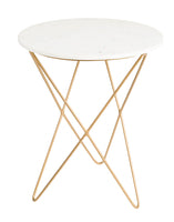 EARTH WIND FIRE SIDE TABLE - WHITE MARBLE