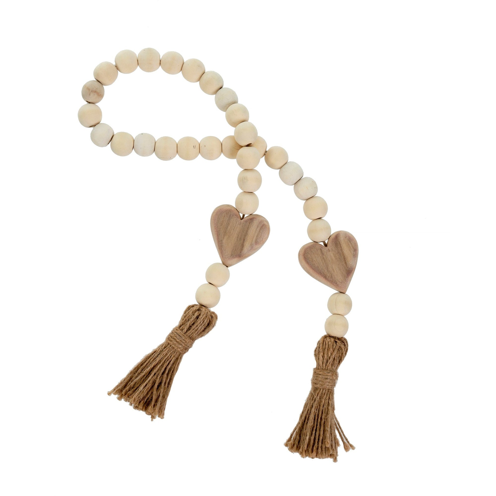 Heart Blessing Beads Natural