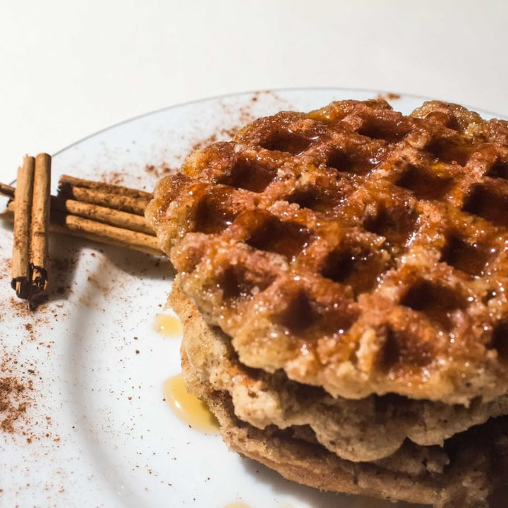 Cinnamon Waffles with Honey Twig