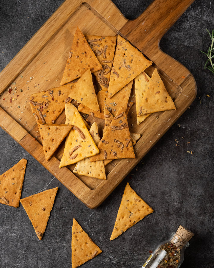 Pita Chips with Herbs & Cheese
