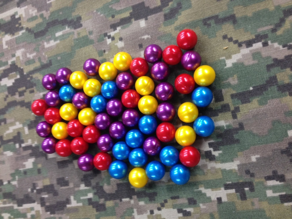 .50 Caliber Assorted Color Paintballs - 100 Count - Berserker Blowguns