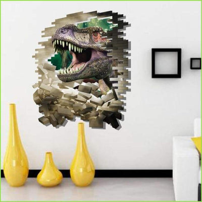 Fearsome Dinosaur 3D Wall Sticker - Stickers