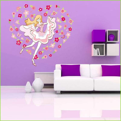 Dancing Flower Girl Decal - Decals