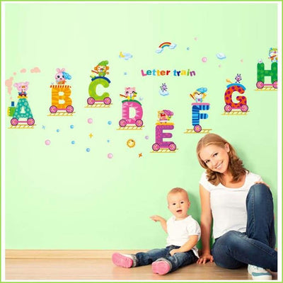Letter Alphabet Train - Decals