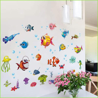 Happy Fish Stickers - Stickers