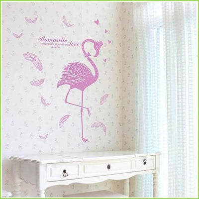 Pink Flamingo Wall Stickers - Stickers
