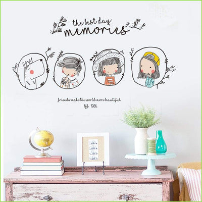 Girl Memory Frame Decals - Decals