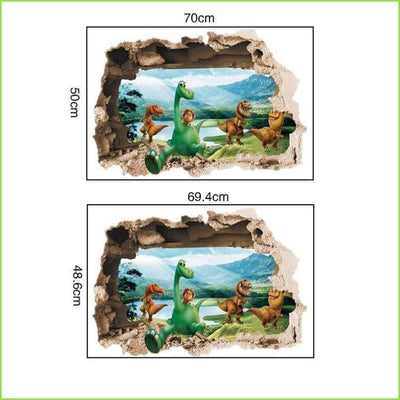 3D Smiley Dinosaur World - Sticker