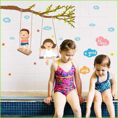 Happy Swing Wall Sticker - Stickers