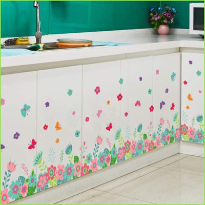 Butterfly Flower Skirting Board Decal - Decals