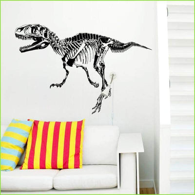 Black Dinosaur Sticker - Sticker