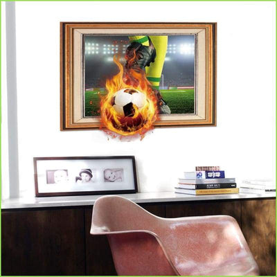 Football Fire Sticker - Stickers