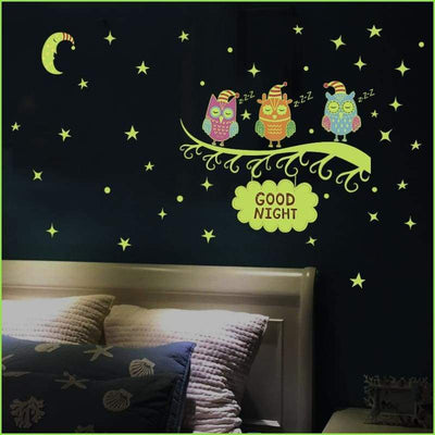 Sleep Tight Glow Owls - Stickers