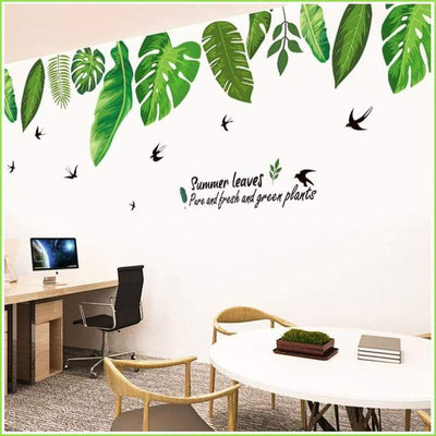 Tropical Leaves Border Decal - Decals