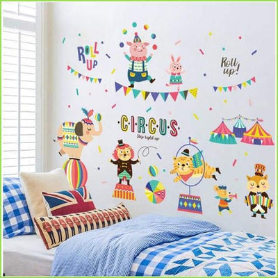 Colourful Circus Wall Decal - Decals