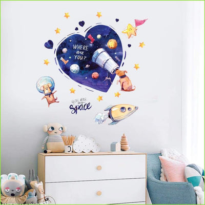 Space Heart Wall Decals - Decals