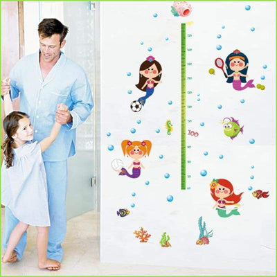 Mermaid Height Chart - Stickers