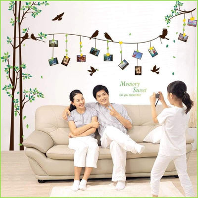 Green Frame Family Tree Decal - Decals