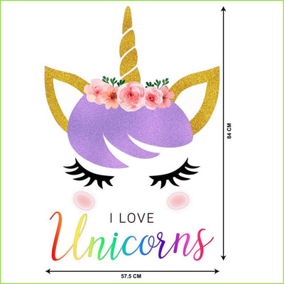 Wsfk Elegant Unicorn Wall Decal - Decals
