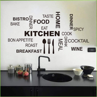 Kitchen Wall Quote Decal on WallStickersForKids