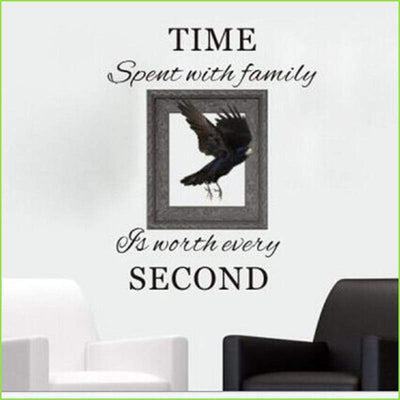 Time Spent Family Quote on WallStickersForKids