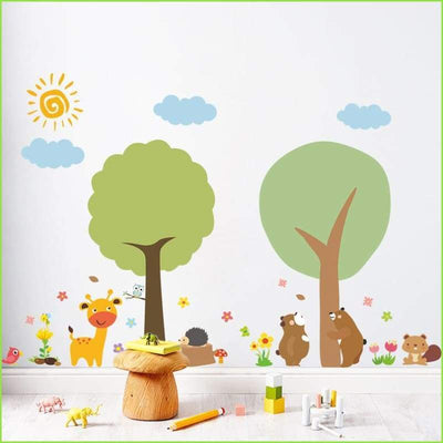 Two Tree Animals Wall Decals on WallStickersForKids