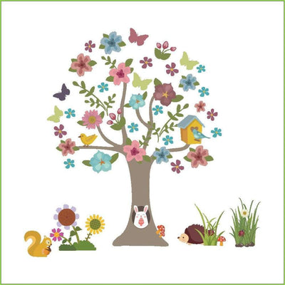 Woodland Animal Tree Wall Sticker on WallStickersForKids