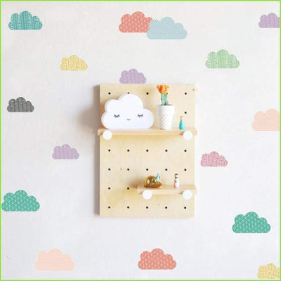 Colour Clouds Wall Stickers on WallStickersForKids