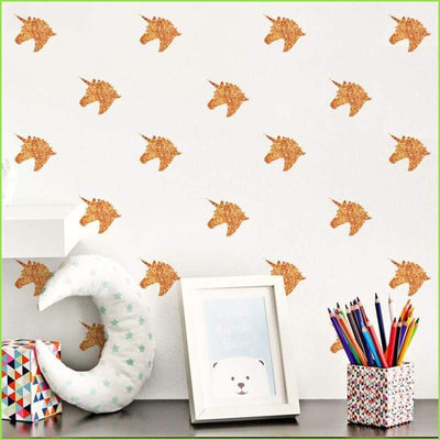 Pink Unicorns Wall Stickers on WallStickersForKids