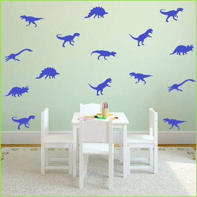 GREEN Dinosaur Wall Sticker Set on WallStickersForKids