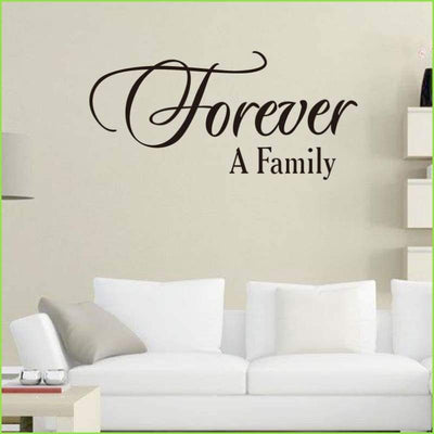 Forever A Family Wall Sticker Quote on WallStickersForKids