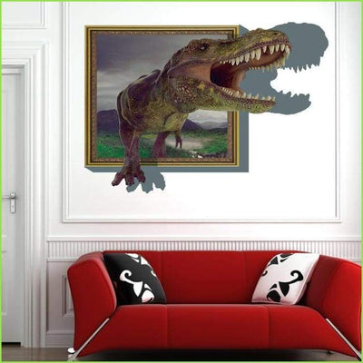 3D Dino Frame Wall Decal - Decals