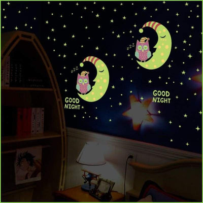 Goodnight Glow Owls Decals on WallStickersForKids