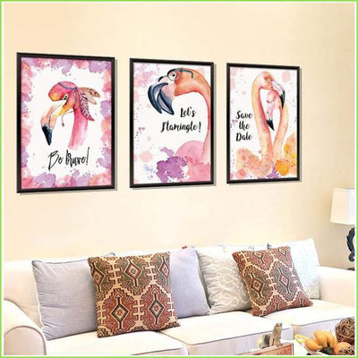 Let's Flamingle Wall Decals on WallStickersForKids