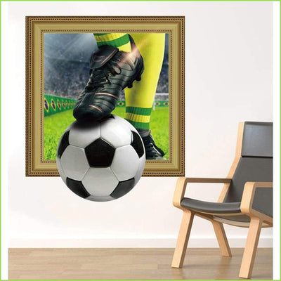 3D Soccer Ball Frame Football on WallStickersForKids