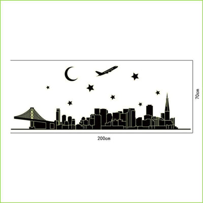 Glow in the Dark Skyline on WallStickersForKids