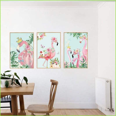 Flamingo World Decals on WallStickersForKids