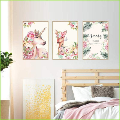 Flamingo Unicorn Frames on WallStickersForKids