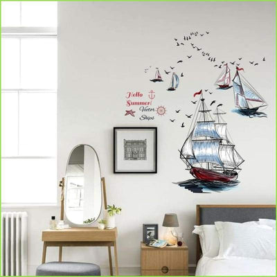 Tall Ships Wall Sticker on WallStickersForKids