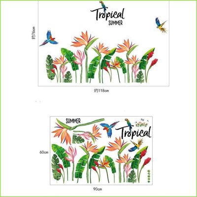 Tropical Summer Skirting Border on WallStickersForKids