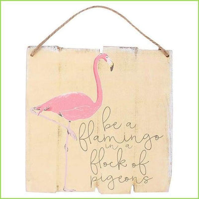 Flamingo Wall Plaque on WallStickersForKids